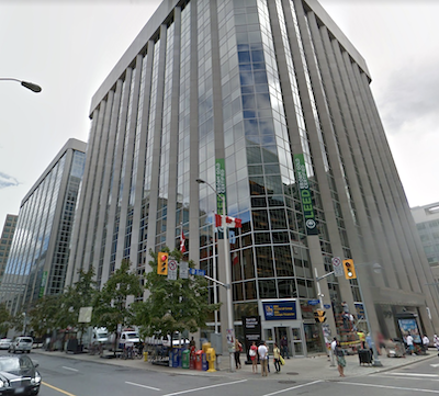 IMAGE: The Sun Life Financial Centre, a 960,000-square-foot, class-A office complex in downtown Ottawa. (Google Street View)