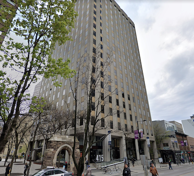 IMAGE: 415 Yonge Street in Toronto is being sold by Artis REIT. (Google Street View)