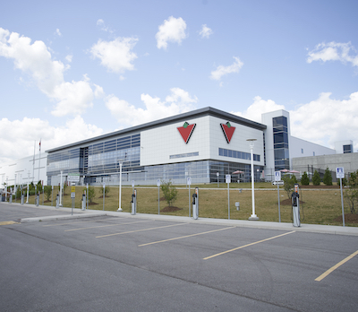 IMAGE: Canadian Tire Corp. obtained LEED Gold certification at its Caledon, Ont. distribution centre in November 2018. (Courtesy Canadian Tire Corporation)