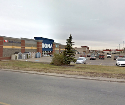 IMAGE: Melcor REIT will purchase this Rona-anchored retail power centre in Grande Prairie, AB. (Google Street View)