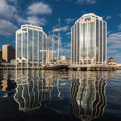 IMAGE: GWL Realty Advisors is in the final stages of its major renovation program at the Purdy's Wharf office complex in Halifax. (Courtesy CBRE)