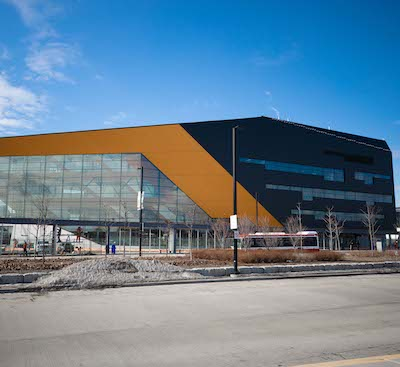 IMAGE: The Barrett Centre for Technology Innovation at Humber College is net-zero energy and seeking a LEED Platinum certification. (Courtesy Humber College)