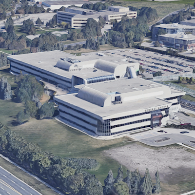 IMAGE: This 315,400-square-foot office campus north of Toronto, in Markham, is a TOBY award winner. It is being bought by True North Commercial REIT. (Google Street View)