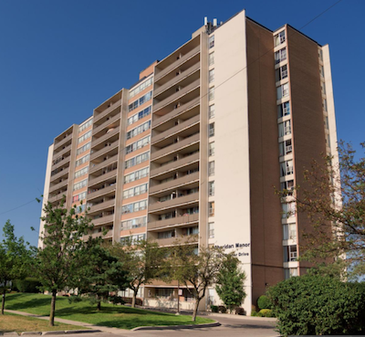 IMAGE: This apartment property at 1890 Fowler Dr., in Mississauga is one of 32 sites included in the Continuum REIT portfolio. (Courtesy Continuum)
