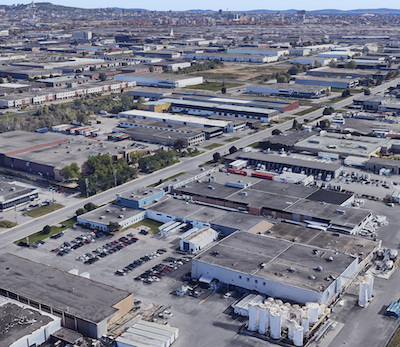 IMAGE: The Greater Montreal industrial real estate sector is facing rapidly declining vacancy rates, and increasing rental rates for tenants. (Google Street View)