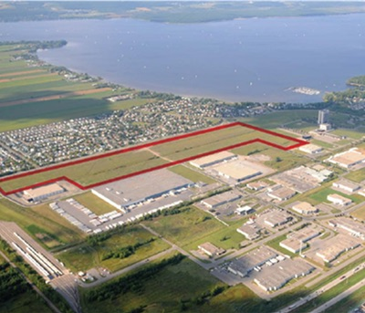 IMAGE: Broccolini, Triovest and Hydro-Quebec plan to build about 250,000 square feet of industrial capacity at 3500 F.- X.- Tessier Street in Vaudreuil, in Greater Montreal. (Courtesy Triovest)