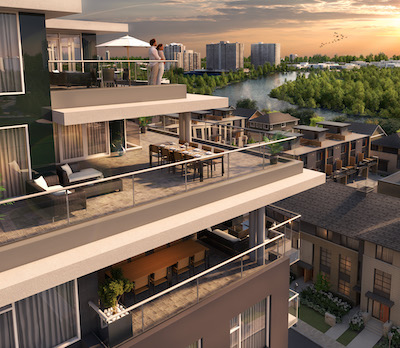IMAGE: Greystone Village is a major infill residential and mixed-use development by The Regional Group, at the eastern edge of downtown Ottawa. (Courtesy Regional Group)