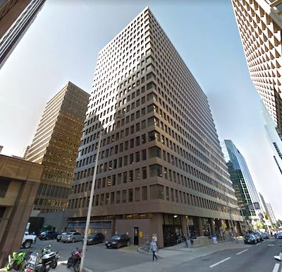 IMAGE: The Jean Edmonds Towers complex at 300 Slater Street in downtown Ottawa has already been partially improved to new government standards. It is owned by Morguard. (Google Street View)