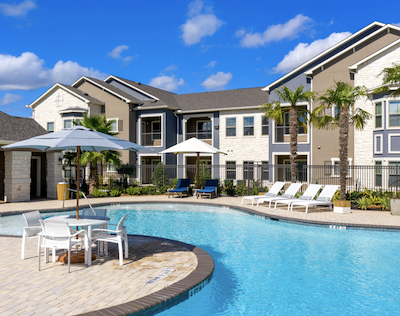 IMAGE: The newly constructed Satori at Long Meadow Apartments in Richmond, near Houston, have been acquired by BSR REIT. (Courtesy satorilongmeadow.com)