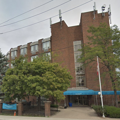 IMAGE: Terrace Gardens in Toronto is one of six seniors housing facilities acquired by Oxford Living LLC. (Google Street View)