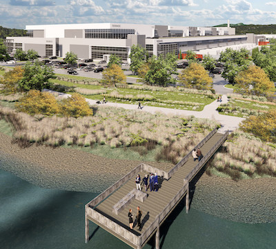 IMAGE: Oxford Properties will build Canada's first stacked, large bay industrial property at the Riverbend Business Park in Burnaby, B.C. (Courtesy Oxford)