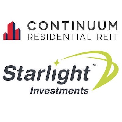 IMAGES: Continuum REIT and Starlight Investments logos.
