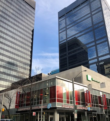 IMAGE: The Edmonton City Centre complex has been sold by Oxford Properties to a joint venture of four investors. (Courtesy LaSalle)