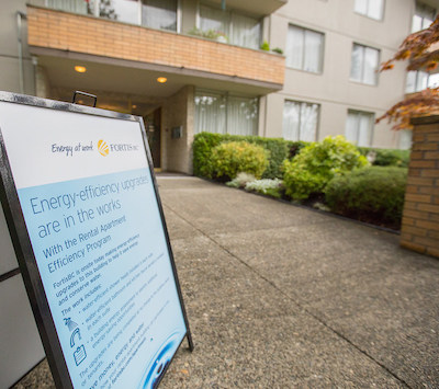 IMAGE: Tapping into basic energy savings in older apartment buildings via the Rental Apartment Program is lowering emissions, costs and demands on public infrastructure. (Courtesy FortisBC)