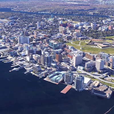 IMAGE: There is very little flexible or co-working office space in the Halifax Region. CBRE's Andrew Bergen said that could affect growth in the region's emerging tech sector. (Google Street View)