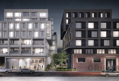 IMAGE: The 1620NDO redevelopment by Montreal's MTRPL will include ground-floor retail and upper-storey office office space in an existing century-old building, as well as additional residential and commercial phases. (Courtesy MTRPL)