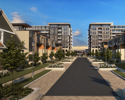 IMAGE: Artist's conception of a portion of the Ottawa Greystone Village development by Regional Group. (Courtesy Regional Group)