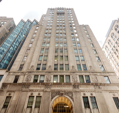 IMAGE: Toronto's downtown The Permanent Building is being renovated and repositioned by new owners Menkes and TD Greystone. (Courtesy Menkes Developments)