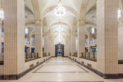IMAGE: The interior of The Permanent Building in downtown Toronto. (Courtesy Menkes Developments)
