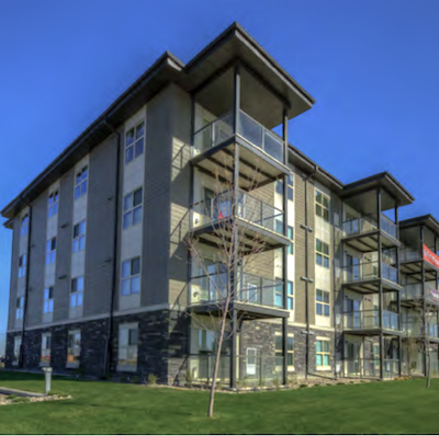 IMAGE: Parliament apartments in Regina is one of three new multifamily developments for sale as part of the Porchlight-Marwest multifamily portfolio. (Courtesy JLL)