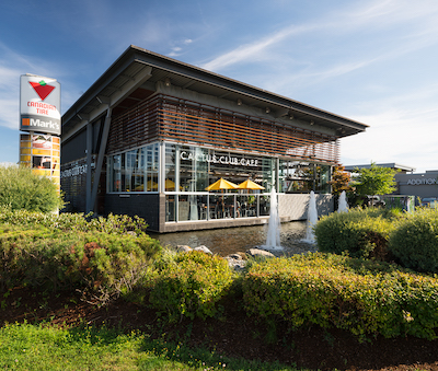 IMAGE: The Marine Way Market in Burnaby, B.C., is one of GWL Realty Advisors' grocery-anchored regional shopping properties. (Courtesy GWLRA)