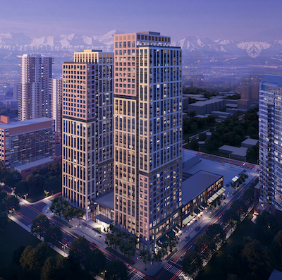 IMAGE: The Curtis Block is being constructed in Calgary's Beltline by ONE Properties. (Courtesy ONE Properties)