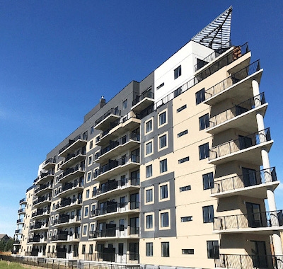 IMAGE: Killam Apartment REIT has acquired The Link, a new apartment building in Edmonton, AB. (Courtesy LinkEllerslie.ca)