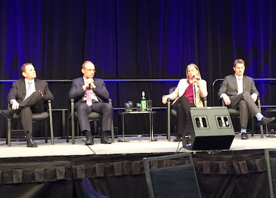 IMAGE: Members of the U.S. investment panel at the Global Property Market conference in Toronto. (Steve McLean RENX)