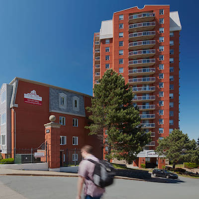 IMAGE: The Cunard Apartments along Brunswick St., in Halifax are part of a 1,503-apartment portfolio being acquired by CAPREIT. (Courtesy Quadreal)