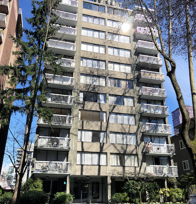 IMAGE: 1629 Haro St. in Vancouver's West End is one of two apartment buildings purchased by Starlight Investments. (Courtesy CBRE)
