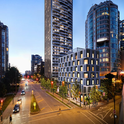 IMAGE: The Pacific is currently under development by U.K.-based Grosvenor Group in downtown Vancouver. (Courtesy Grosvenor)