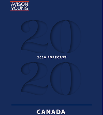 IMAGE: The Avison Young 2020 Forecast for Canada examines CRE trends across the country. (Courtesy Avison Young)