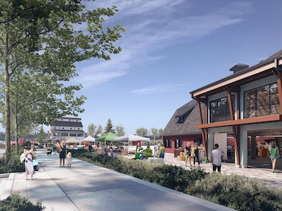 IMAGE: Artist's conception of the Market Square at the Southlands development in Tsawwassen, B.C. (Courtesy Century Group)