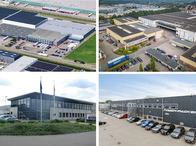 IMAGE: Dream Industrial REIT is under contract to purchase $347M in European industrial properties, including these four assets in The Netherlands. (Courtesy Dream Industrial)