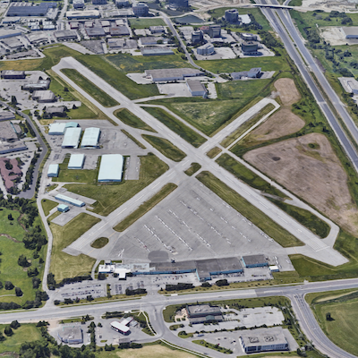 IMAGE: The Toronto Buttonville Municipal Airport, located just north of the city in Markham. (Google Street View)