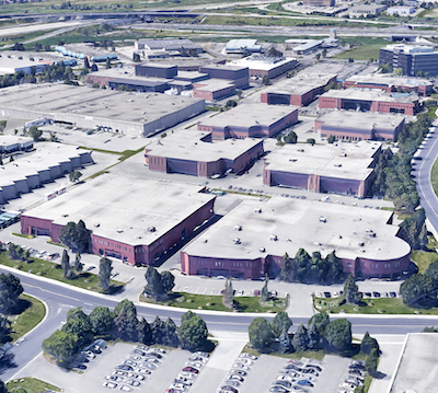 IMAGE: The Cochrane Business Park in Markham, just northeast of Toronto. Summit Industrial Income REIT has purchased the campus. (Google Street View)