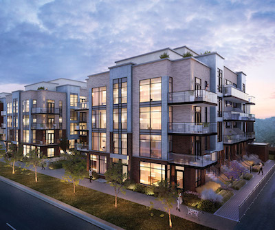 IMAGE: Crown Communities is building Toronto's first three-storey, lower-unit townhouses in its Greenwich Village Towns development on Sheppard Avenue West. (Courtesy Crown Communities)
