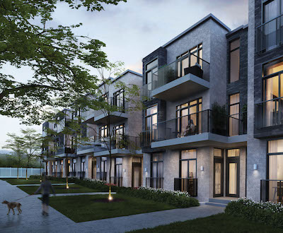 IMAGE: The Winlock Towns are being constructed by Crown Communities along Finch Avenue. (Courtesy Crown Communities)