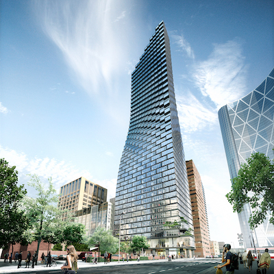 IMAGE: The Telus Sky mixed-use tower in downtown Calgary. (Image courtesy Telus)