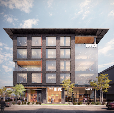 IMAGE: This five-storey office building will be the first major new office space in Kamloops, B.C., in two decades. (Courtesy A & T)