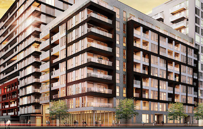 IMAGE: 21e Arrondissement is a mixed-use development on a 100,000 square foot site in the Faubourg des Recollets neighbourhood of Montreal being developed by Prével. (Courtesy Prével)