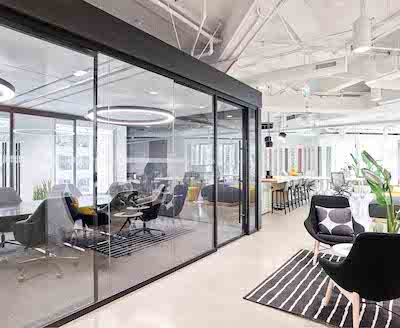 IMAGE: The Workplace Innovation Challenge hosted by Oxford Properties at 200 Bay Street in Toronto. The area designed by Connect Resource Managers and Planners Inc. and The Jesslin Group took top prize. (Courtesy Oxford Properties / DaleWilcox DWP)