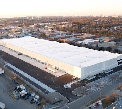IMAGE: PIRET is now leasing this new, almost 300,000-square-foot industrial facility at 75 Venture Dr. in Toronto. (Courtesy PIRET)