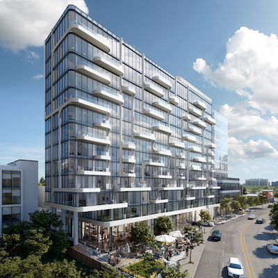 IMAGE: ANX, at Dupont Street and Spadina Avenue, is a 105-unit condo development by Freed, which will also include 75,000 square feet of office space. (Courtesy Freed)