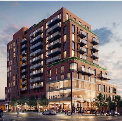 IMAGE: 900 St. Clair West is a condo building which is part of the St. Clair Village development by Canderel and partners. (Courtesy Canderel)