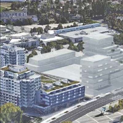 IMAGE: Former owner Bene Group had proposed a 472,000-square-foot, mixed-use development for the 6851-6871 Elmbridge property in Richmond, B.C.