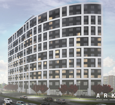 IMAGE: A construction fire has set back progress on Campus Suites' The Arc in Winnipeg. But the company has several student and co-living developments on the go across Canada. (Courtesy Campus Suites)