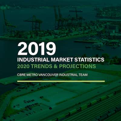 IMGE: CBRE's 2019 Vancouver Industrial Market Statistics, 2020 Trends and Predictions report.