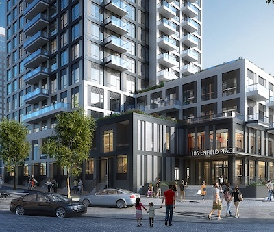 IMAGE: Enfield Place will be a 35-storey, 365-apartment development in Mississauga's City Centre neighbourhood by GWL Realty Advisors. (Courtesy GWL Realty Advisors)