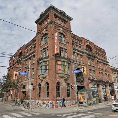 IMAGE: Toronto's Gladstone Hotel is being purchased by Streetcar Developments and Dream Unlimited. (Google Street View)